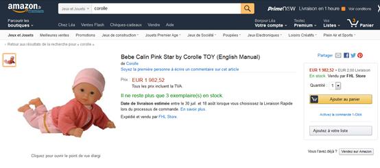 Corolle Amazon