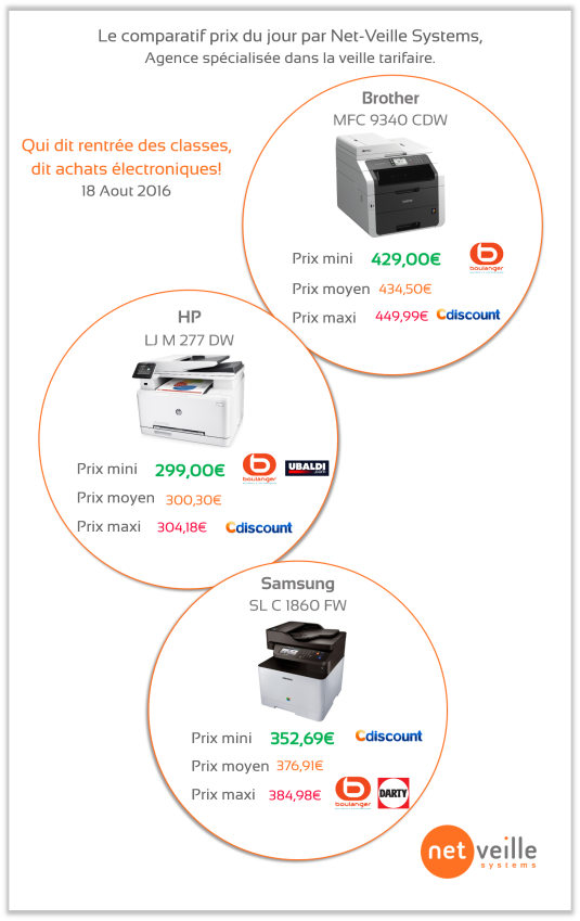 Info imprimantes 18 08 2016
